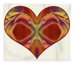 Colorful Heart - Naked Truth - Omaste Witkowski Fleece Blanket