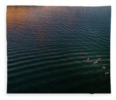 Colorful Kayaks Fleece Blanket
