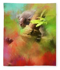 Colorful Koala Fleece Blanket