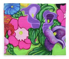 Colorful Mural Fleece Blanket