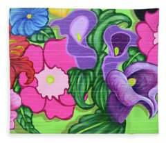 Colorful Mural Fleece Blanket