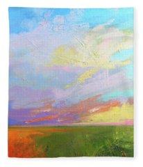 Colorful Sky Fleece Blanket