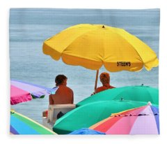Colorful Sunbrellas Fleece Blanket