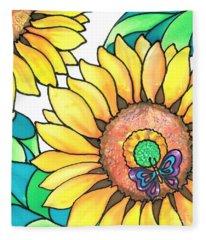 Colorful Tropics 14 Fleece Blanket