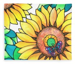 Colorful Tropics 14 Fleece Blanket