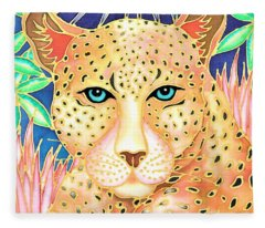 Colorful Tropics 15 Fleece Blanket