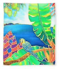 Colorful Tropics 16 Fleece Blanket