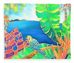 Colorful Tropics 16 Fleece Blanket