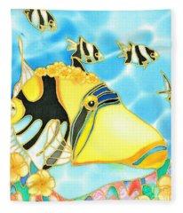 Colorful Tropics 17 Fleece Blanket