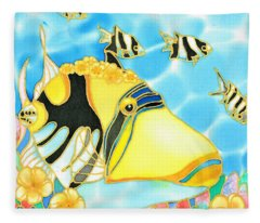 Colorful Tropics 17 Fleece Blanket