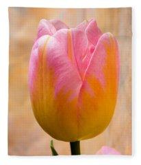 Colorful Tulip Fleece Blanket