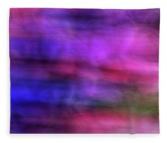 Colorful Watercolor Abstract Art With Pinks Purples And Greens Fleece Blanket