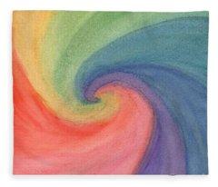 Colorful Wave Fleece Blanket