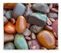 Colorful Wet Stones Fleece Blanket