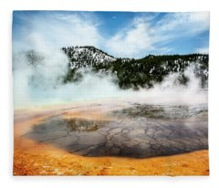 Colors Of Yellowstone Fleece Blanket