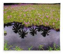 Colors On The Water Fleece Blanket