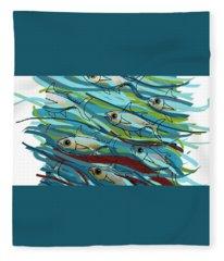 Coloured Water Fish - Digital Change 2 Fleece Blanket