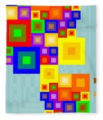 Colourful Cubism  Fleece Blanket