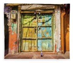 Colourful Doors Agra Fleece Blanket
