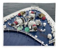 Colours. Sea Green Fleece Blanket