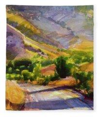 Columbia County Backroads Fleece Blanket