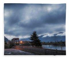 Columbia River Morning Fleece Blanket