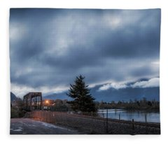 Columbia River Morning Fleece Blanket