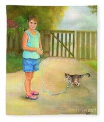 Come Along Kitty Fleece Blanket