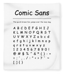 Comic Sans - Most Wanted Fleece Blanket