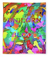 Comic Splatter - Unicorn Blood Fleece Blanket