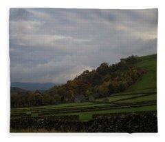 Derbyshire Stone Walls Fleece Blanket