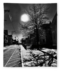 Commercial Street Shadows Fleece Blanket