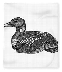 Common Loon Fleece Blanket