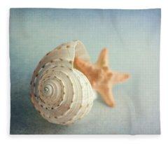 Conch Shell And Starfish Fleece Blanket