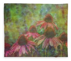 Coneflowers Among The Lavender 1667 Idp_2 Fleece Blanket