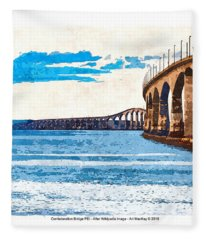 Confederation Bridge, Pei 5 Fleece Blanket