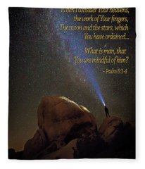 Consider The Heavens Fleece Blanket