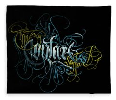Contact. Calligraphic Abstract Fleece Blanket
