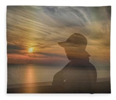 Contemplation Fleece Blanket