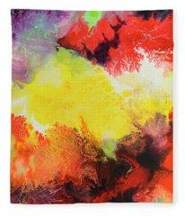 Continuity, Canvas Three Fleece Blanket