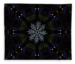 Continuous Christmas Lights Fleece Blanket
