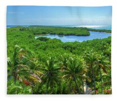 Contoy Island Fleece Blanket