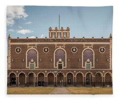 Fleece Blanket featuring the photograph Convention Hall by Steve Stanger
