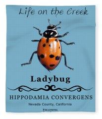 Convergens Ladybug Fleece Blanket