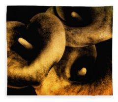 Copper Callas  Fleece Blanket