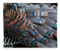 Copper-tipped Ocellated Turkey Feathers Photograph Fleece Blanket