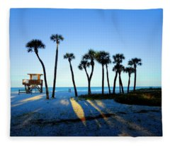 Coquina Palms Fleece Blanket
