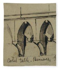 Corbel Table - Benieves, France Fleece Blanket