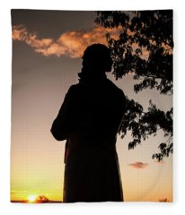 Corby At Sunset Fleece Blanket