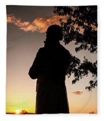 Corby At Sunset Fleece Blanket